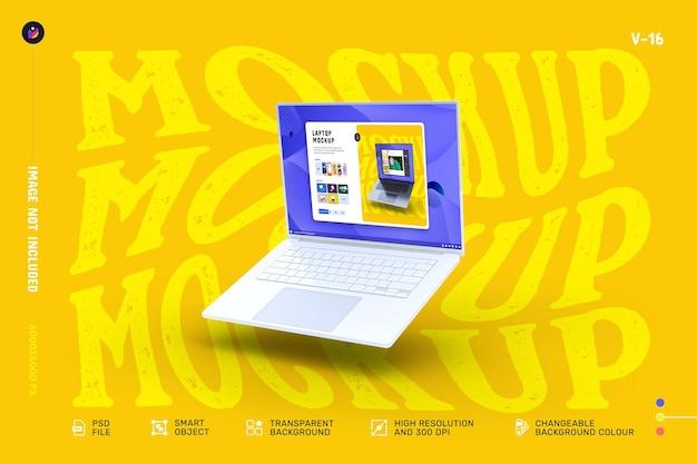 Макет экрана современного ноутбука