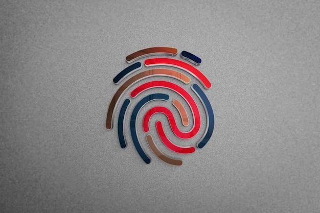 현대 로고 모형-손가락 로고