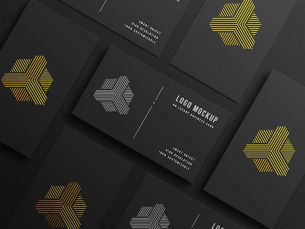 Modern logo mockup on luxury business card