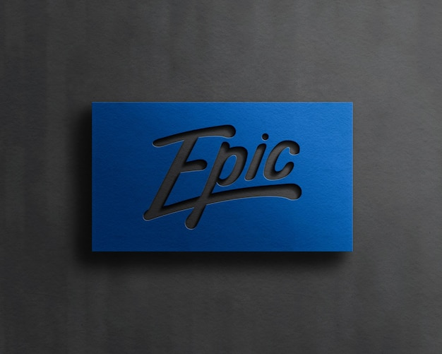 Modern logo mockup with emboss effect