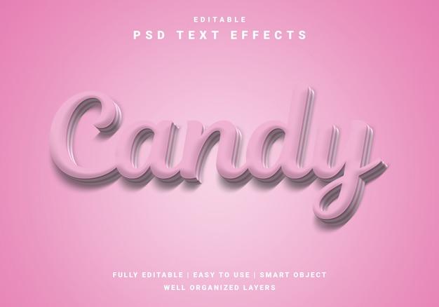 Modern love candy text effect