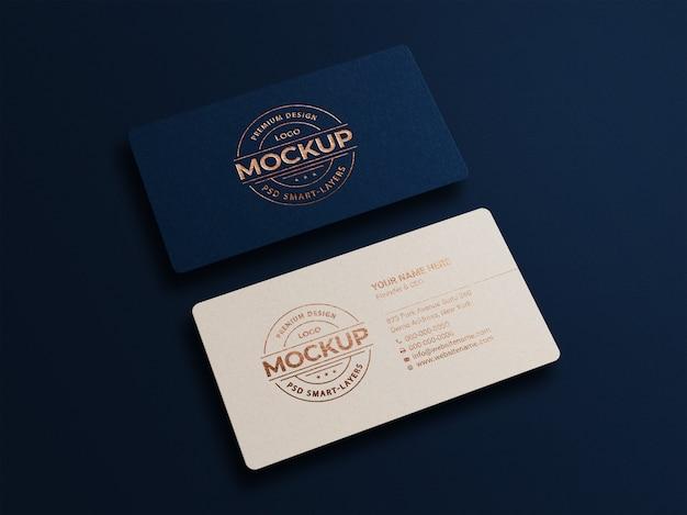 Макет современной роскошной визитки