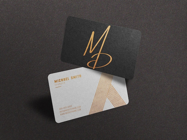 Modern and luxury business card mockup