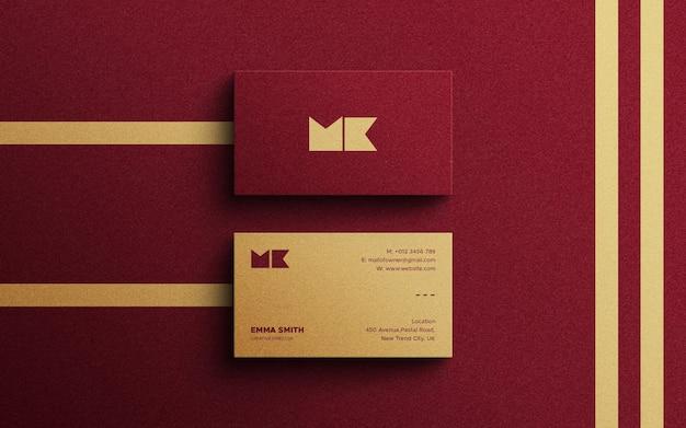 Современный роскошный макет визитной карточки