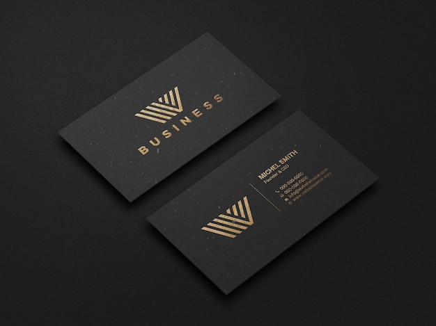Modern and luxury dark business card mockup