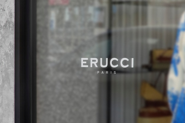 Modern luxury window sign logo mockup