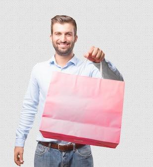 쇼핑백을 들고 현대인