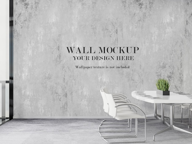 Modern meeting room wall mockup design