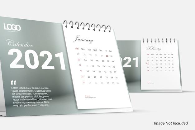 Современный минималистский календарь макет изолированные
