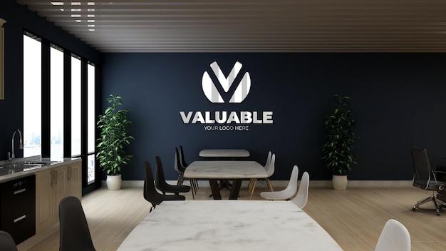 Modern and minimalist office pantry wall logo mockup