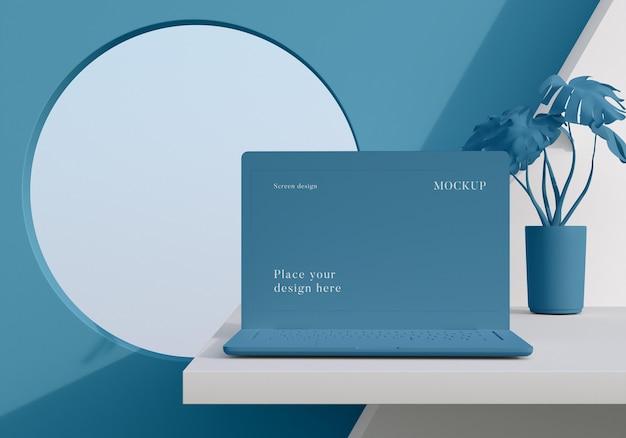 Modern mock-up laptop arrangement