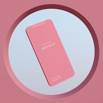 現代のモックアップスマートフォンの配置