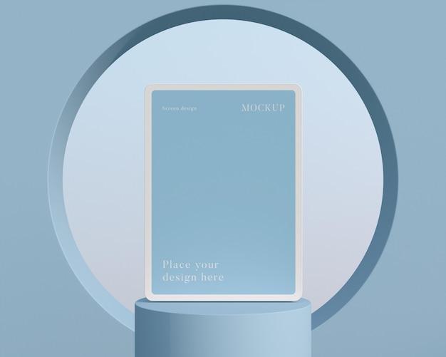 現代のモックアップタブレットの配置