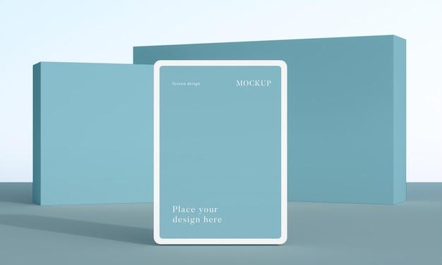 현대 목업 태블릿 배열