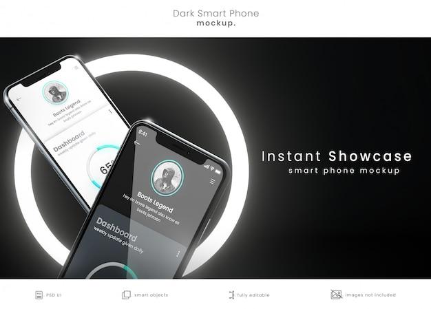 Современный макет двух телефонов