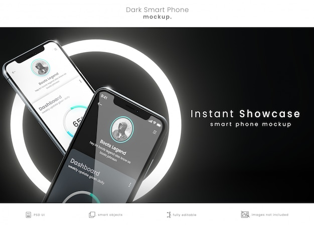 Modern mockup of two phones