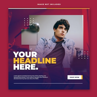 Modern modern instagram post template design