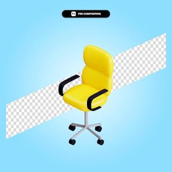 Современный офисный стул 3d визуализации изолированных иллюстрация