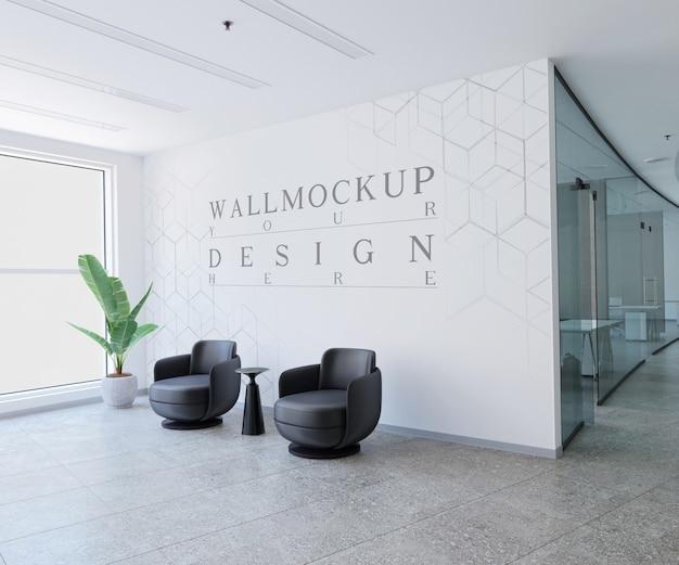 Современный офис макет стены