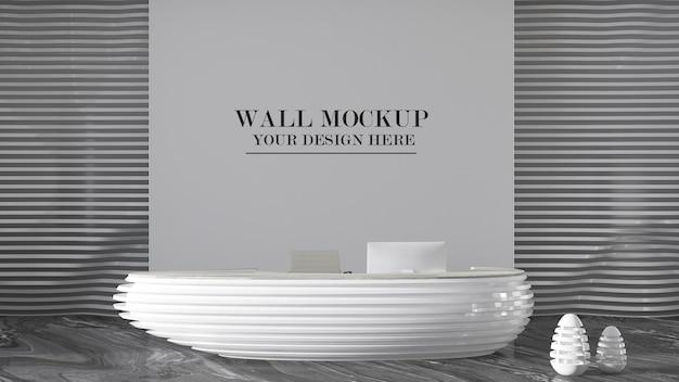 Современный офисный макет стены