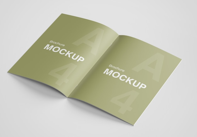 Modern opened brochure or magazine mockup