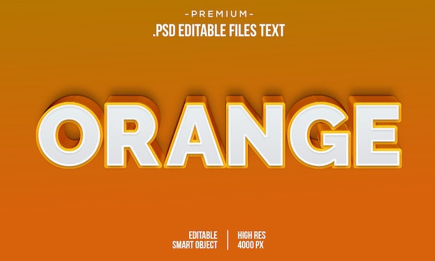 Современная оранжевая любовь 3d градиент жирный текст