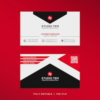 Modern outstanding business card red shape cards