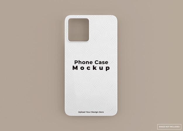 分離された 3 d レンダリングで現代の電話ケース モックアップ デザイン