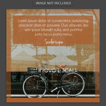 Modern photo mockup and instagram post template for social media profile