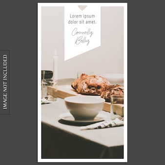 Modern photo mockup and instagram story template for social media profile