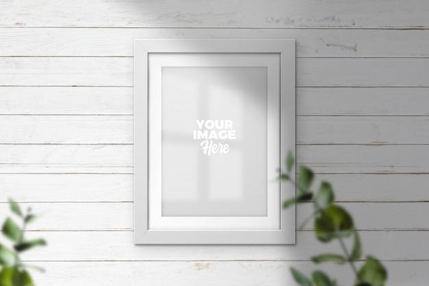 Modern poster frame mockup