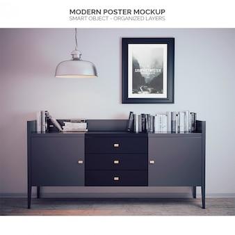 Modern poster mock up