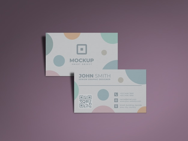 Modern and professional business card mockup