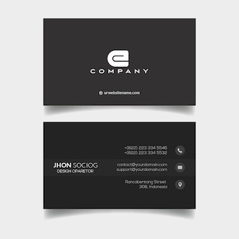 Modern professional business card template