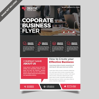 Modern professional corporate business flyer template