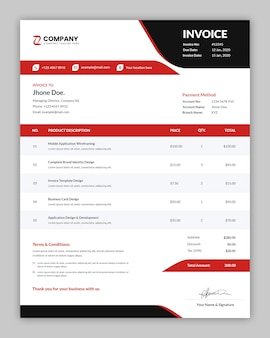 Modern professional invoice template
