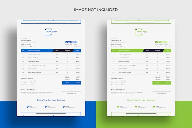 Modern professional premium invoice psd template
