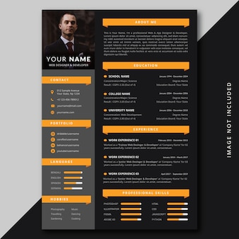 Modern professional resume cv template