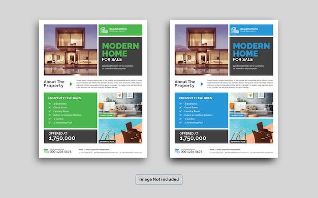 Modern real estate flyer