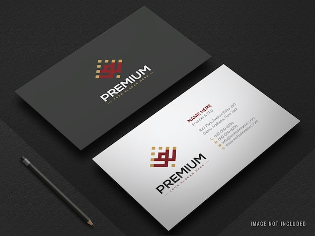 Modern realistic business card mockup