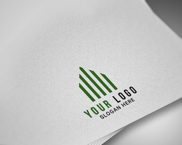 Modern realistic  logo mockup