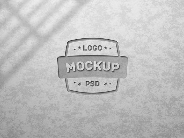 Modern realistic wall logo mockup