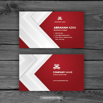 Modern red business card design with corporate concept
