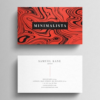 Modern red business card template