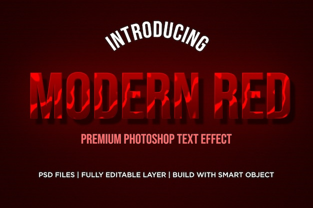 Modern red  text effect styles