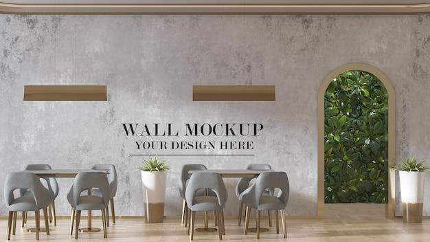 현대적인 레스토랑 벽 모형