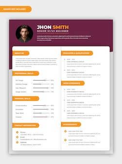Modern resume template design