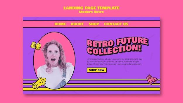 Modern retro landing page