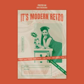 현대 복고풍 맥시 멀리스트 포스터 템플릿
