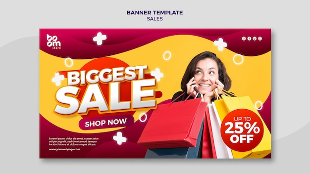 Современный шаблон баннера продаж